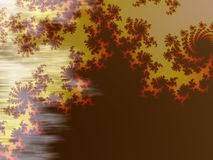 Mandelbrot bakgrund Arkivbilder
