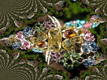 Mandelbrot jewellery pattern Stock Images