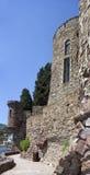 Mandelieu-la Napoule Castle, South of France. Mandelieu-la Napoule Castle and sea, South of France Royalty Free Stock Photo