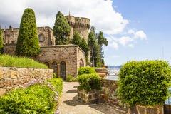 Mandelieu-la Napoule slott fotografering för bildbyråer