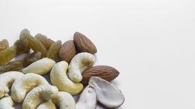Mandeln, Acajoubaum und Rosine Lizenzfreies Stockfoto