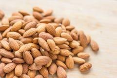 Mandeln schließen herauf Foto - Faser Rich Healthy Nuts lizenzfreies stockfoto