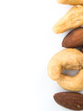 Mandeln und Acajounüsse Lizenzfreies Stockbild