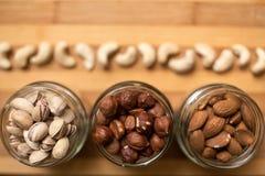 Mandeln, Walnüsse und Haselnüsse Lizenzfreies Stockfoto