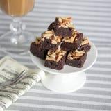 Mandelschokoladenkuchen stockfotos