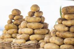 Manden van aardappels Stock Foto