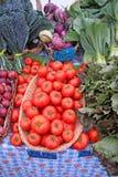 Manden van tomaten Stock Afbeelding