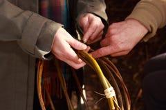 Mandevlechteninstructie Royalty-vrije Stock Foto's