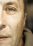 Mandgezicht op middelbare leeftijd Stock Fotografie