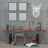 Mandi in aria il fondo interno moderno di stile, 3D rendono Immagine Stock Libera da Diritti