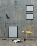 Mandi in aria il fondo interno moderno di stile, 3D rendono Fotografia Stock