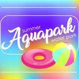 Mandi un sms al ` di Aquapark del ` su un fondo vago Fotografia Stock Libera da Diritti