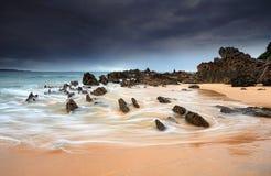 Mandibole di vista sul mare di pietra del paesaggio Fotografia Stock Libera da Diritti