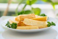 Mandioca fritada Foto de Stock