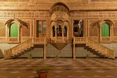 Mandir宫殿一些房间台阶和窗口  库存图片