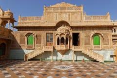 Mandir宫殿房子在Jaisalmer 库存照片