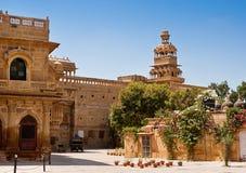 Mandir slott i Jaisalmer, Rajasthan, Indien Royaltyfri Foto
