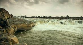 Mandla de chutes de l'eau de Sahastradhara Images stock