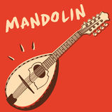 Mandolin vector. Illustration of an italian mandolin, retro style + vector eps file Stock Photo