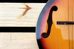Mandolin background concept Royalty Free Stock Photography