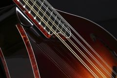 Mandolin  on black Royalty Free Stock Image