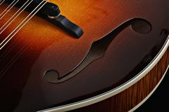 Mandolin on black background Stock Photo