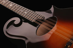 Mandolin  on black background Royalty Free Stock Image