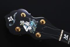 Mandolin detail on black background. Mandolin detail isolated on black background Stock Image