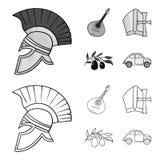Mandolin far, oliv, retro automatisk E vektor illustrationer