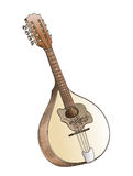 Mandolin hand drawing Royalty Free Stock Image