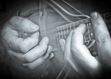Mandolin hands Stock Images