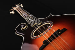Mandolin isolated on black Royalty Free Stock Photo