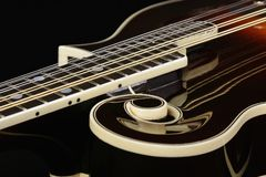 Mandolin isolated on black background Stock Photos