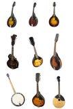 Mandolin och banjoar Fotografering för Bildbyråer