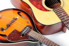 Mandolin och gitarr Fotografering för Bildbyråer