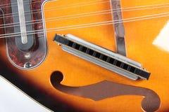 Mandolin och harpa Arkivfoton