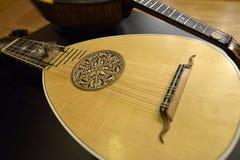 Mandolin och plektrum Arkivbilder