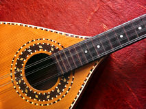 Mandolin Over Red royalty free stock photos