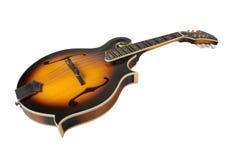 Mandolina de Bluegrass aislada en blanco imagenes de archivo