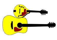 Mandolina y guitarra Foto de archivo libre de regalías