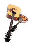Mandoline et guitare acoustique Photos stock