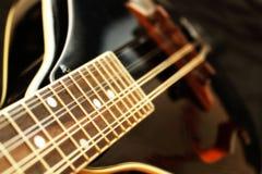 Mandolino nero Fotografia Stock Libera da Diritti