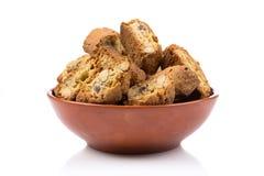Mandorla d'alla de Cantuccini, biscuits italiens image stock