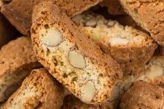 Mandorla di alla di Cantuccini, biscotti italiani Immagini Stock Libere da Diritti