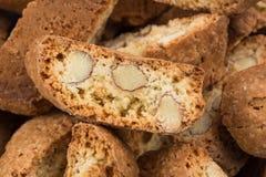 Mandorla di alla di Cantuccini, biscotti italiani Immagine Stock Libera da Diritti