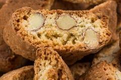 Mandorla do alla de Cantuccini, cookies italianas Foto de Stock