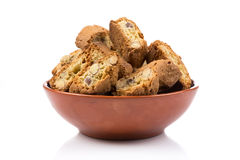 Mandorla van Cantuccinialla, Italiaanse koekjes Stock Afbeelding