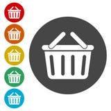 Mandpictogram, Mand het winkelen commercieel pictogram stock illustratie