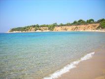 Mandraki Beach at Skiathos, Greece Stock Images