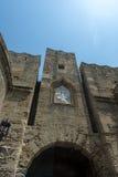 Mandraki, Città Vecchia, Rodi Immagini Stock